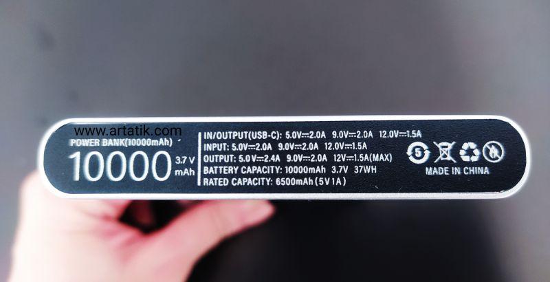 پاوربانک اصلی ایتری 10000میلی آمپر مدل PLM12ZM