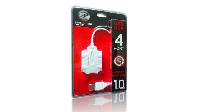 هاب 4 پورت USB 2.0 ایکس پی مدل XP-H801