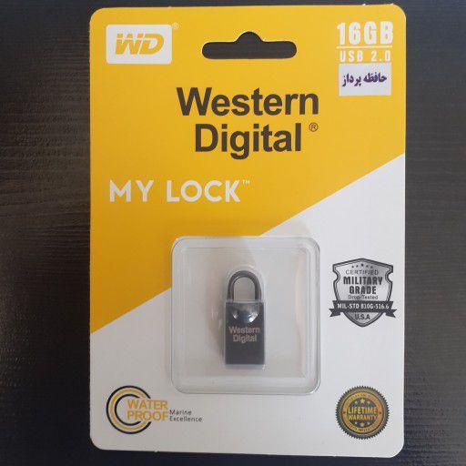 فلش مموری وسترن دیجیتال مدل my lock ظرفیت 16 گیگابایت