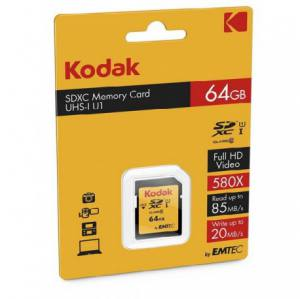Emtec Kodak UHS-I U1 Class 10 85MBps 580X microSDHC With Adapter - 64GB